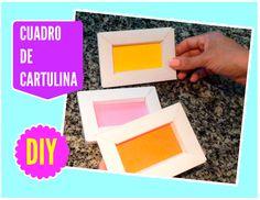 Manualidades: Cuadros de Cartulina / Portarretrato de Cartulina - http://cryptblizz.com/como-se-hace/manualidades-cuadros-de-cartulina-portarretrato-de-cartulina/