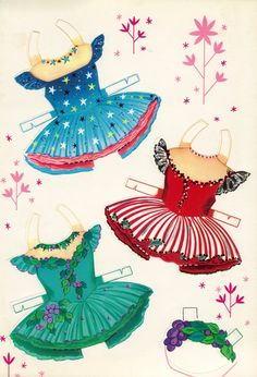 Saalfield | BALLET PAPER DOLLS | Little Ballerinas from 1950s |  5 of 6
