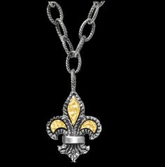 For Everything Genealogy - Fleur De Lis Yellow Gold Accent Adjustable Small Sterling Silver Pendant, $350.00 (http://www.foreverythinggenealogy.com.au/fleur-de-lis-yellow-gold-accent-adjustable-small-sterling-silver-pendant/)
