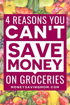 Are you struggling with your grocery list and trying to write your grocery list on a budget? These 4 reasons can help you stick to your budget and reach your budgeting goals! Save Money On Groceries, Ways To Save Money, Money Tips, How To Make Money, Living On A Budget, Frugal Living Tips, Money Saving Mom, Make Money Blogging, Budget Meal Planning