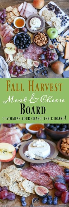 Fall Harvest Cheese Board - how to make an awesome fall-inspired charcuterie board using ingredients you can find at any grocery store @MiltonsCraftBakers #MiltonMoment #ad #appetizer Yummy Appetizers, Appetizers For Party, Appetizer Recipes, Cocktail Party Food, Charcuterie And Cheese Board, Meat And Cheese, Cocktails, Game Day Food, Fall Harvest