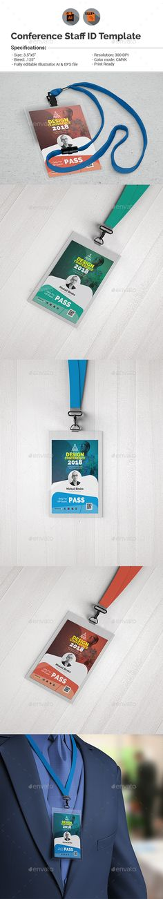 Conference VIP Pass ID Template — Vector EPS #creative id #vip pass • Download ➝ https://graphicriver.net/item/conference-vip-pass-id-template/18950407?ref=pxcr