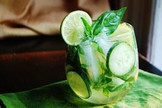 Green Sangria…only 115 calories!  Yes!