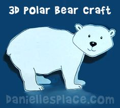 Polar Bear 3D Craft www.daniellesplace.com