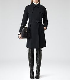 Reiss Julia - Perfect Wool Blend Trench Coat, if only it was black