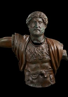 For almost twenty-one years, from A.D. 117 to 138, Publius Aelius Hadrianus ruled one of the mightiest empires the world has ever seen. Rome 2nd century AD Bronze Torso.