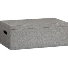 Fill up open bookshelf space with some attractive closed storage.  grey felt storage box in all office | CB2