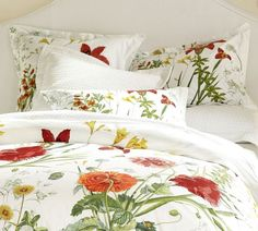 Love to have this in one of the bedrooms.Bloomfield Floral Organic Duvet Cover & Sham | Pottery Barn