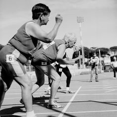 You go girl . . . Women aged 80-85, in a 100 meter race. Photographer Angela_Jimenez_