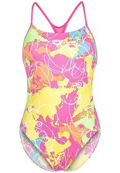 Arena ROUTES Badeanzug rose violet/yellow star für Damen -