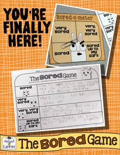 FUN, fun, fun back to school, first week activities to use with the cutest book ever, You're Finally Here! by Melanie Watt.