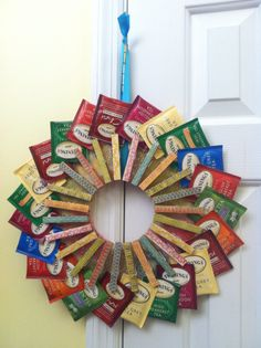 Wonderful Tea Bag Wreath. It Was Fun To Make:)