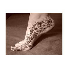 Tattos Foot Design 5 ❤ liked on Polyvore