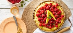 No-Bake Mango-Lime Tart with Raspberries | Forks Over Knives