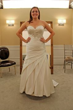 Season 14 Featured Dress: Danielle Caprese. Fit & flare, rouching, beading down bodice. $3,500.