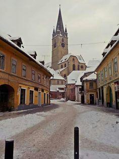 Winter in Sibiu, Romania Sibiu Romania, Winter, Places, Winter Time