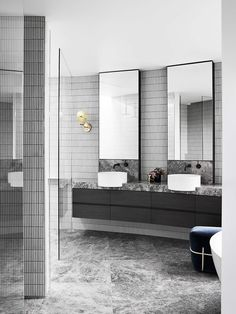 Honouring Albert Park's renowned period aesthetic Mim Design, in collaboration. - Home FTH - Home Decor Ideas New Bathroom Designs, Bathroom Interior Design, Bathroom Ideas, Bad Inspiration, Bathroom Inspiration, Mim Design, Mold In Bathroom, Washroom, White Bathroom