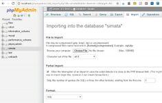 Memperbesar Kapasitas Upload dalam PhpMyadmin
