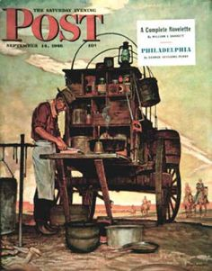 Saturday Evening Post - 1946-09-14: Chuckwagon (Mead Schaeffer)