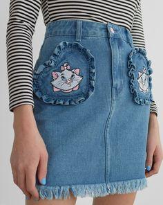 Disney x Lazy Oaf Aristocats Denim Skirt - Everything - Categories - Womens
