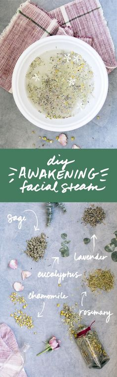 photographed by kristen kilpatrick In case you missed it, we made some relaxing herbal facial steams and smudge sticks to celebrate the people in our lives with this springtime DIY. These facial steams are my personal favorite because they take. Natural Cleaning Recipes, Natural Cleaning Products, Diy Beauty, Beauty Hacks, Beauty Tips, Beauty Products, Facial Steaming, Crafts For Kids, Diy Crafts