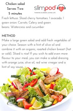 Slimpod Gold - the ultimate solution for quitting sugar and losing weight Chicken Salad Recipes, Healthy Chicken, Easy Food To Make, Transformation Body, Food Cravings, Nutritious Meals, Cherry Tomatoes, Healthy Lifestyle, Healthy Living