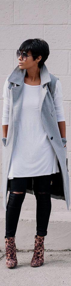Grey & Leopard / Fashion By Kryzayda