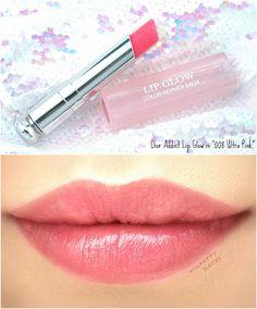 """Dior Addict Lip Glow Color Reviver Balm in Ultra-Pink"""" Dior Lip Glow, Dior Lipstick, Lipstick Swatches, Liquid Lipstick, Cheap Lipstick, Waterproof Lipstick, Lipstick Brands, Lip Gloss Colors, Lipstick Colors"""