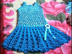 Vestidito en crochet(ganchillo) para niña tipo batita - YouTube