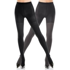 Spanx Blackcharcoal Reversible Tight End Tights - Women's ($34) ❤ liked on Polyvore featuring intimates, hosiery, tights, spanx tights, spanx, spanx pantyhose, spanx hosiery and spanx stockings