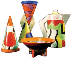 Clarence Cliff art deco pottery