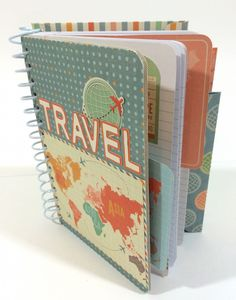 Travel Journal by Traci Penrod made with the Cinch Binder