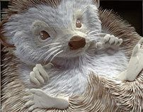 By Canadian paper artist Calvin Nicholls. There is nothing simple or ordinary about his paper art.  The motifs are all wildlife, and that must be one of the hardest categories of things to make with paper since there are sometimes impossible details on animals.