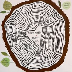 Also a favorite - probably without leaves and a bit more of a true round circle, but I love the lines - tree rings illustration - Google Search