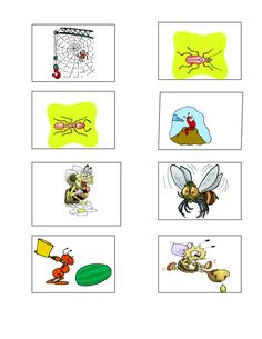 PRINTED GAMES -  Emma's Place Bug Activities, Memory Games, Puzzles, Bugs, Memories, Printed, Cards, Memoirs, Souvenirs
