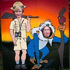 Safari party photo booth