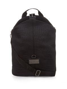ADIDAS BY STELLA MCCARTNEY Animal-Print Duffle Backpack. #adidasbystellamccartney #bags #animal print #canvas #backpacks #lining
