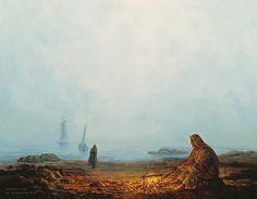 Wonderful history. Jesus feeding the fishermen. yongsung kim painting | PAINTING Ⅱ