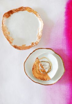 DIY Projects for Teenagers - Handmade Jewelry Dishes With Copper Touches - Cool Teen Crafts Ideas for Bedroom Decor, Gifts, Clothes and Fun Room Organization. Summer and Awesome School Stuff Weekend Projects, Cool Diy Projects, Craft Projects, Simple Projects, Craft Ideas, Teen Projects, Diy Ideas, Decorating Ideas, Handmade Home Decor