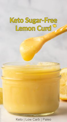 Keto, low carb, sugar free lemon curd that is easy to make. #ketolemoncurd Real Food Recipes, Keto Recipes, Keto Desserts, Recipes Dinner, Dessert Recipes, Cooking Recipes, Baking Desserts, Keto Foods, Health Foods