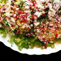 Napa Cabbage Salad with Buttermilk Dressing by Smitten Kitchen