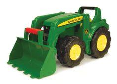 """Amazon.com: Ertl John Deere 21"""" Big Scoop Tractor: Toys & Games"""