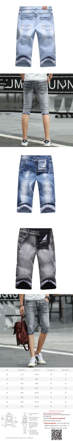 2017 Brand Shorts for men Summer Men denim Shorts Fashion Designers Shorts Cotton Jeans Slim Jeans Shorts Men Plus Size 38