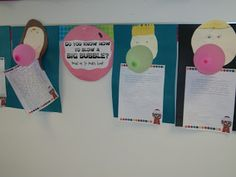 How-to-Report: Cute bulletin board and writing idea