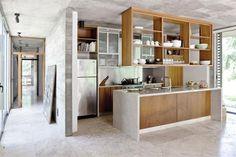Cemento y mármol, dos clásicos para los pisos de tu casa Piso de mármol Travertino modulado. Foto: Archivo LIVING
