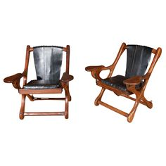 1stdibs.com | Pair of Don Shoemaker 'Sling' Folding Chair