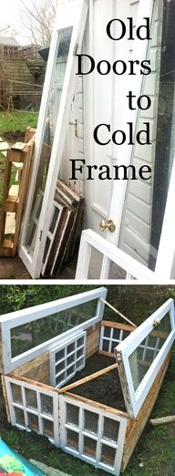 upcycled glass to cold frame