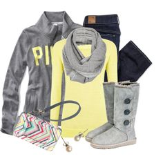 A fashion look from January 2013 featuring Joie sweaters, Victoria's Secret PINK and American Eagle Outfitters jeans. Browse and shop related looks.