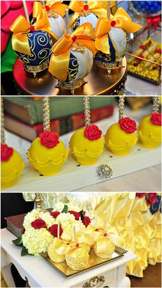 Beauty and the Beast Birthday Celebration. A great focused party on the ballroom scene of the classic movie with an emphasis of Belle's love of books. Beauty And Beast Birthday, Beauty And The Beast Theme, Beauty And The Best, Disney Beauty And The Beast, Girl Birthday Themes, Birthday Design, Birthday Celebration, Birthday Ideas, Star Wars Birthday