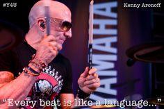 Every beat is like a Language | Kenny Aronoff | YAMAHA DTX